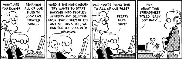 Foxtrot makes fun of the RIAA and their lawsuits