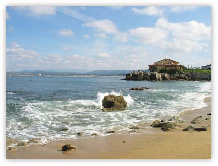 Monterey beach during a beautiful day