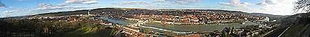 panorama view of Wuerzburg